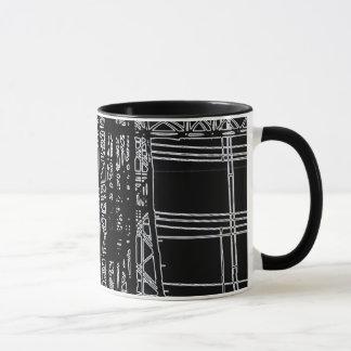 """'POWER LINES"""" 11 oz. RINGER COFFEE MUG"""