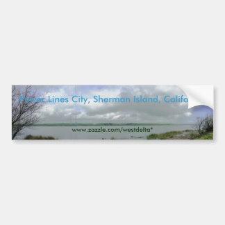 Power Lines City, Sherman Island, CA Bumper Sticker