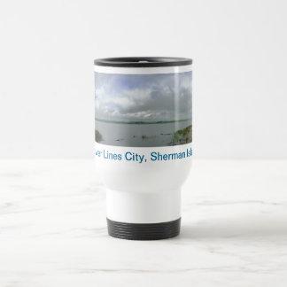 Power Lines City, Sherman Island Mug