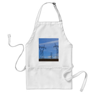 Power lines in blue sky adult apron
