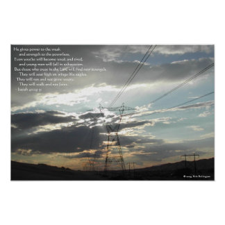 Power Lines—Isaiah 40:29-31 Poster