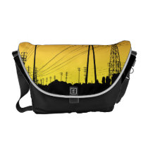 power lines, utilities, urban, landscape, power, electricity, tower, messenger bag, rosin bag, electricity distribution, ragbag, tradesman, beacon light, electric power transmission, current electricity, telephone, thermoelectricity, telegraph, barbacan, cable TV, pharos, electrician, mooring mast, power pylon, shot tower, high-rise, tower block, mooring tower, bus company, bus service, physical phenomenon, water company, gas company, gas service, galvanism, piezoelectric effect, piezo effect, dynamic electricity, hydroelectricity, Rickshaw messenger bag with custom graphic design