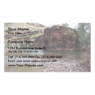 Power Lines On Creek River At Wittenoom Gorge, Business Cards
