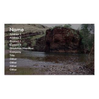 Power Lines On Creek River At Wittenoom Gorge, Business Card
