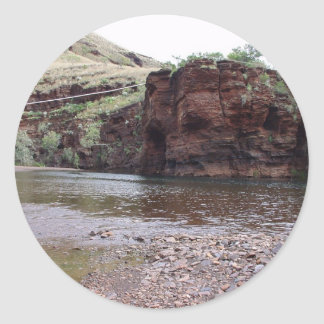 Power Lines On Creek River At Wittenoom Gorge, Sticker