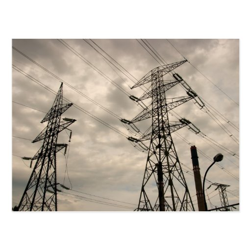 Power Lines Postcard