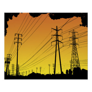 Power Lines Poster at Zazzle