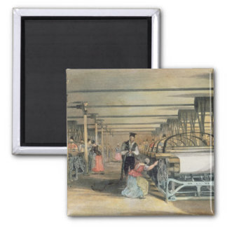 Power loom weaving, 1834 magnet