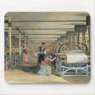 Power loom weaving, 1834 mouse pad