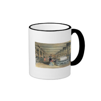 Power loom weaving, 1834 ringer mug