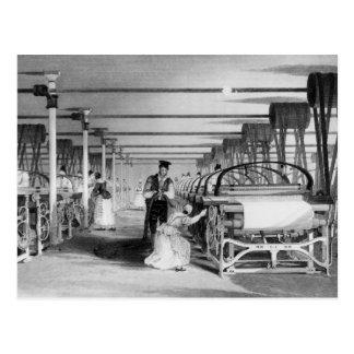 Power Loom Weaving, engraved by J. Tingle, 1835 Postcard