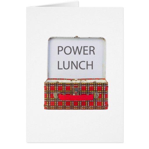 POWER LUNCH ...BOX DESIGN CARD