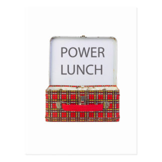 POWER LUNCH ...BOX DESIGN POST CARD