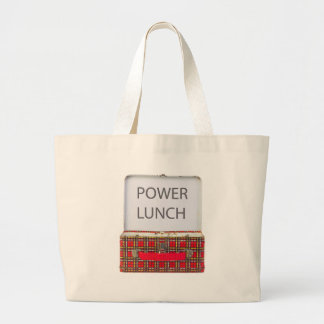 POWER LUNCH ...BOX DESIGN TOTE BAG