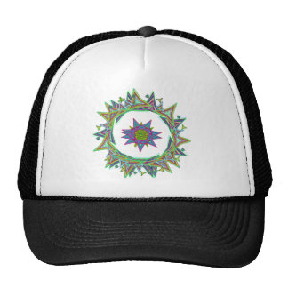 power mandala trucker hat
