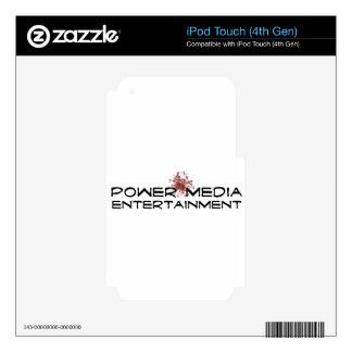 power media entertainment iPod touch 4G skin