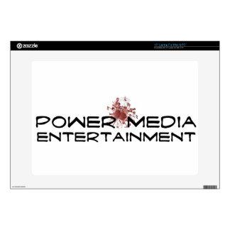"""power media entertainment skin for 15"""" laptop"""