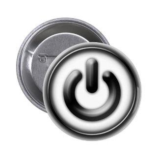 Power: Monochrome (white) Pinback Button