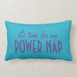 POWER NAP custom color & name throw pillow