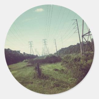 "POWER & NATURE ""The Path"" Classic Round Sticker"