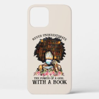 Power of a Girl with a Book iPhone 12 Case