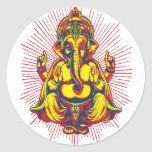 Power of Ganesh Round Stickers