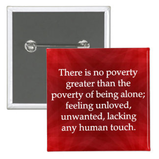 Power of Human Touch 2 Inch Square Button