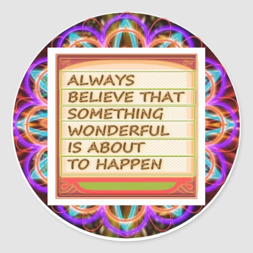 Power of intention n positive thinking classic round sticker