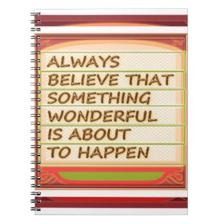 Power of intention n positive thinking note book
