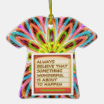 Power of intention n positive thinking christmas tree ornaments