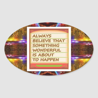 Power of intention n positive thinking oval sticker