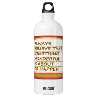 Power of intention n positive thinking SIGG traveler 1.0L water bottle
