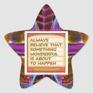 Power of intention n positive thinking star sticker