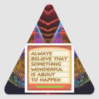 Power of intention n positive thinking triangle sticker