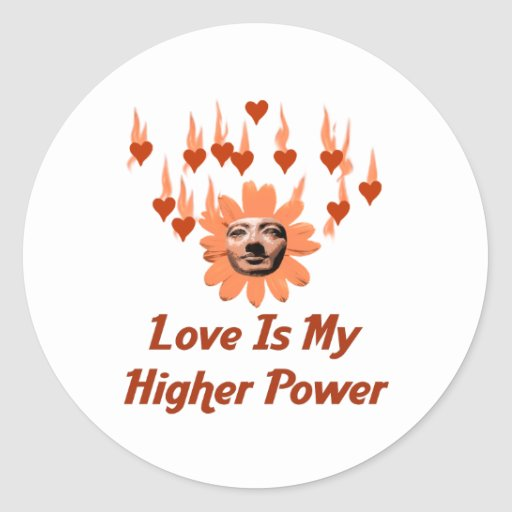 Power Of Love Classic Round Sticker
