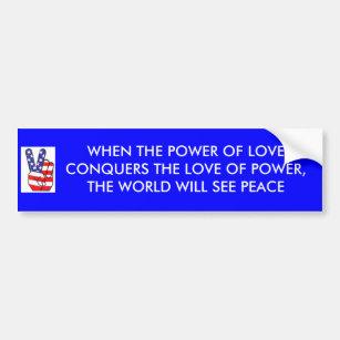 Power Of Love Conquers Peaceper Sticker