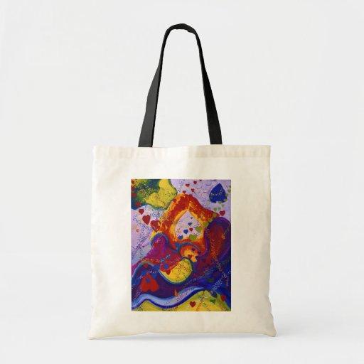 Power of Love – Crimson & Iris Hearts Canvas Bag