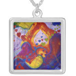 Power of Love – Crimson & Iris Hearts Custom Necklace