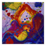 Power of Love – Crimson & Iris Hearts Posters
