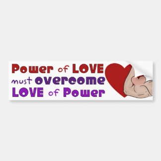 Power of Love Red Heart White Background Bumper Sticker