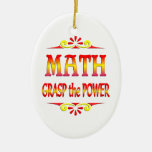 Power of Math Christmas Tree Ornament