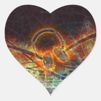power of music heart sticker