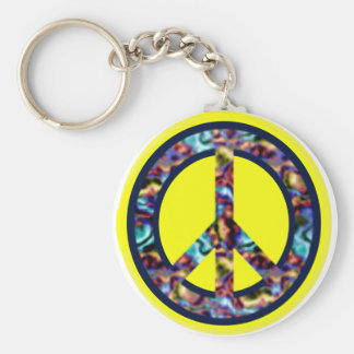 Power of Peace Basic Round Button Keychain