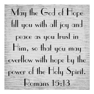 Power of the Holy Spirit bible verse poster
