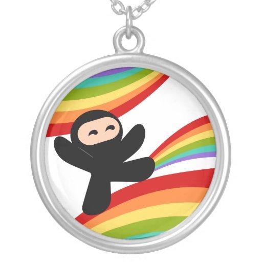 Power of the Rainbow Ninja Kick Pendants