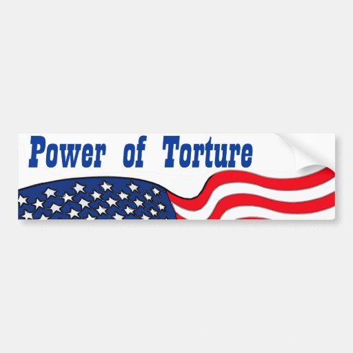 Power of Torture, with American Flag Bumper Sticker