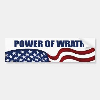 Power of Wrath American Flag Bumper Sticker