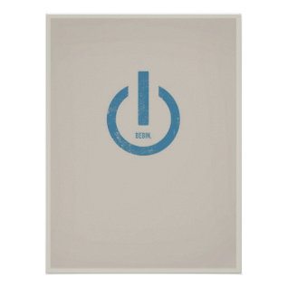 Power On Minimalistic Poster at Zazzle