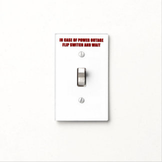 Power Outage Light Switch Cover