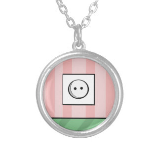 Power outlet round pendant necklace